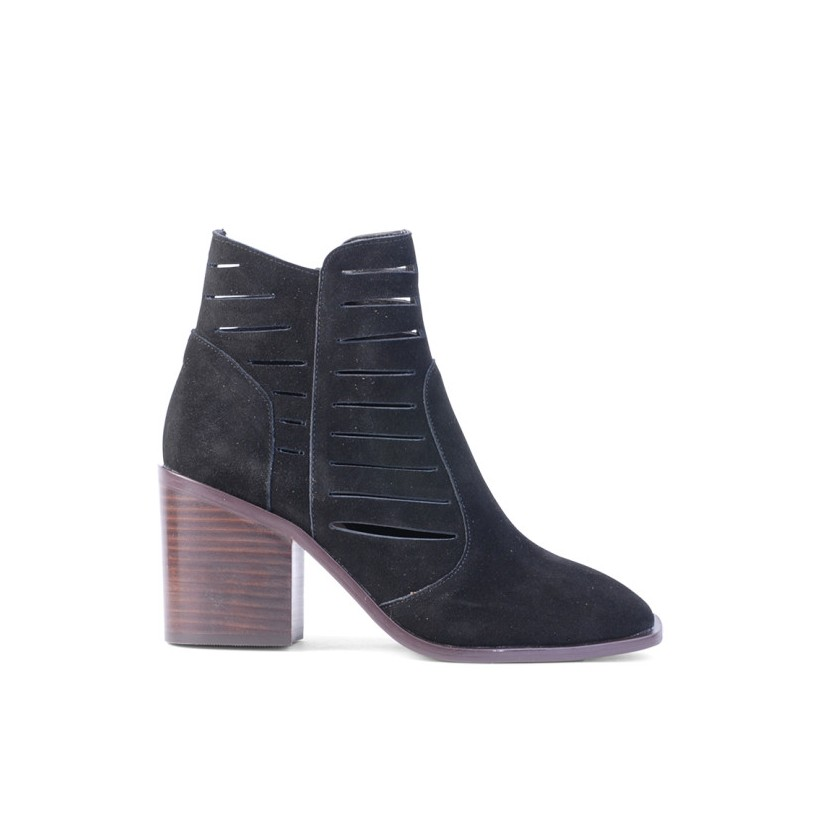 Reaghan - Black Cow Suede by Siren Shoes
