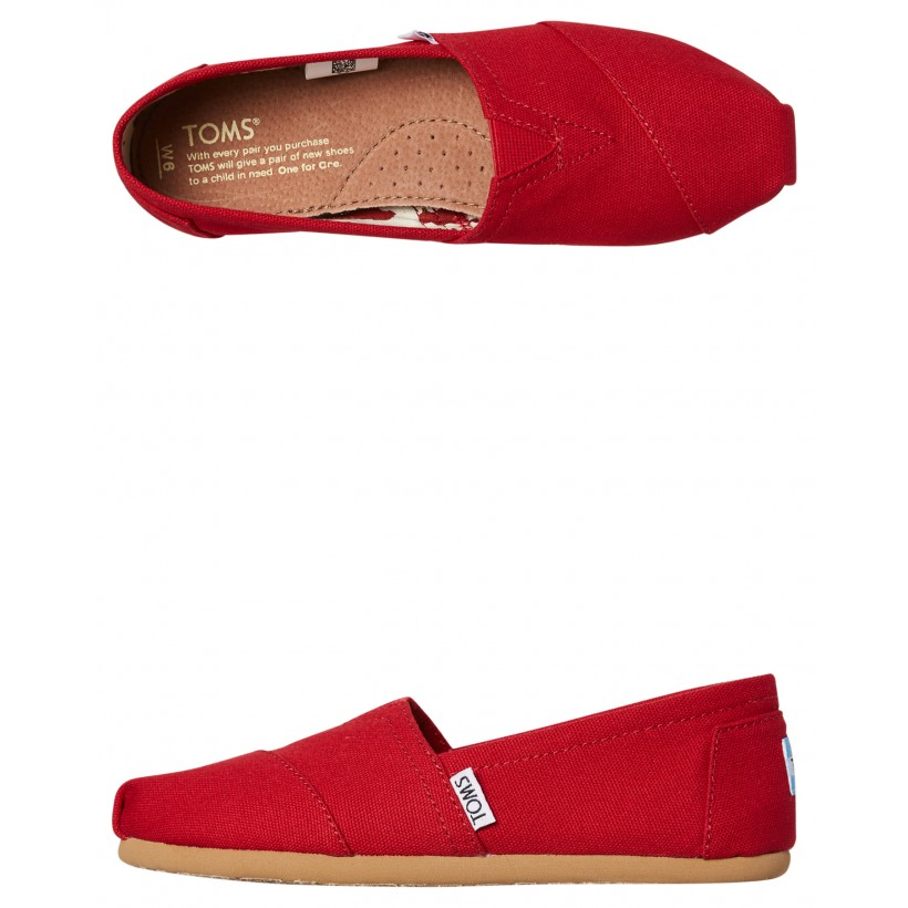 Mens Alpargata Shoe Red By TOMS
