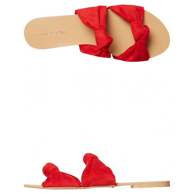 Womens Madena Slide Red Suede By BILLINI