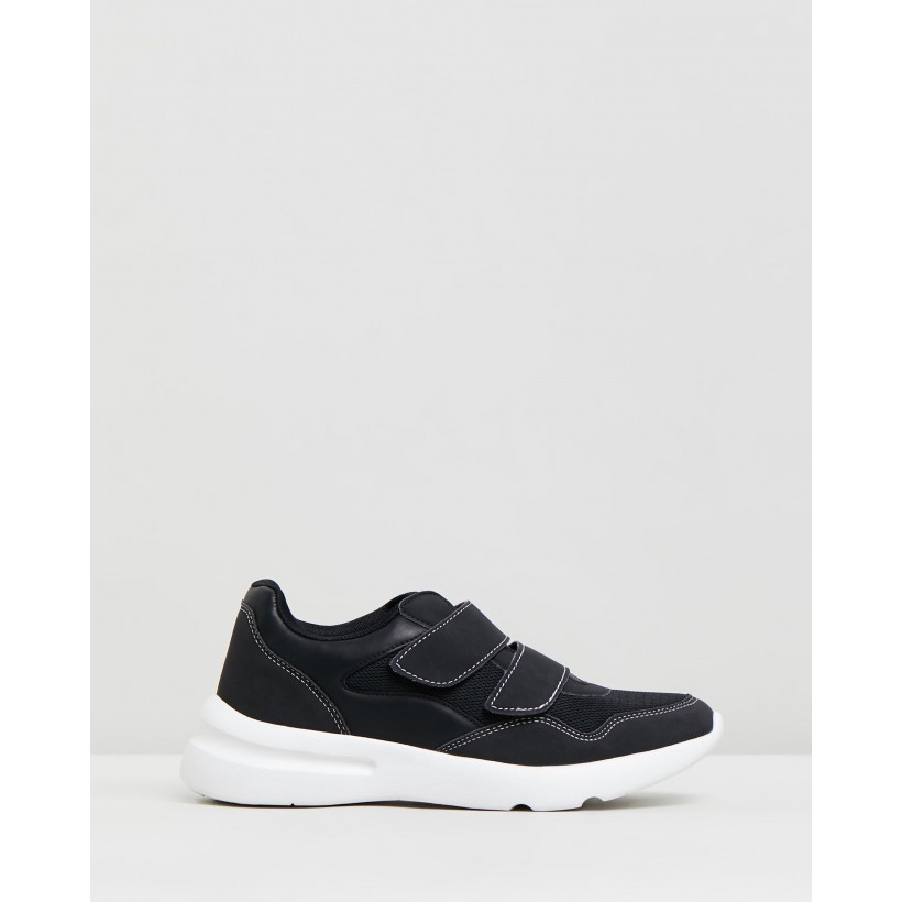 Zaya Strap Chunky Sneakers Black & White by Rubi