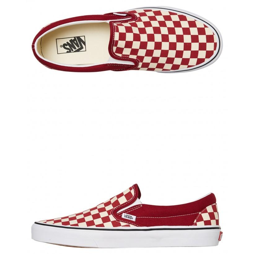 Mens Classic Slip On Shoe Rumba Red