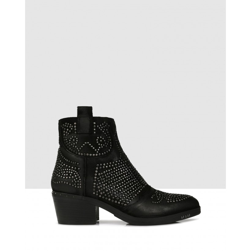 Anaho Ankle Boots Nero by S By Sempre Di
