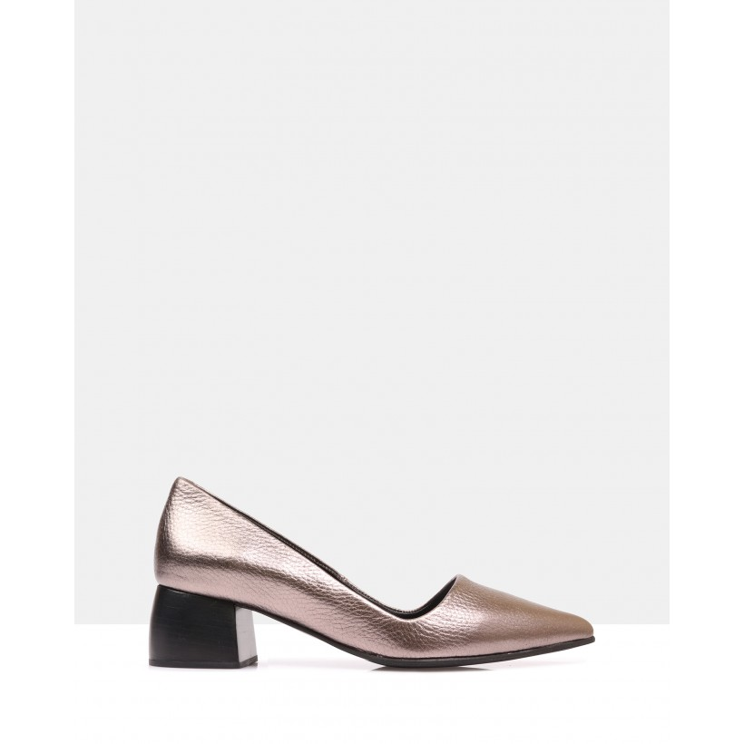 Ranita Court Shoes Bronze by Sempre Di