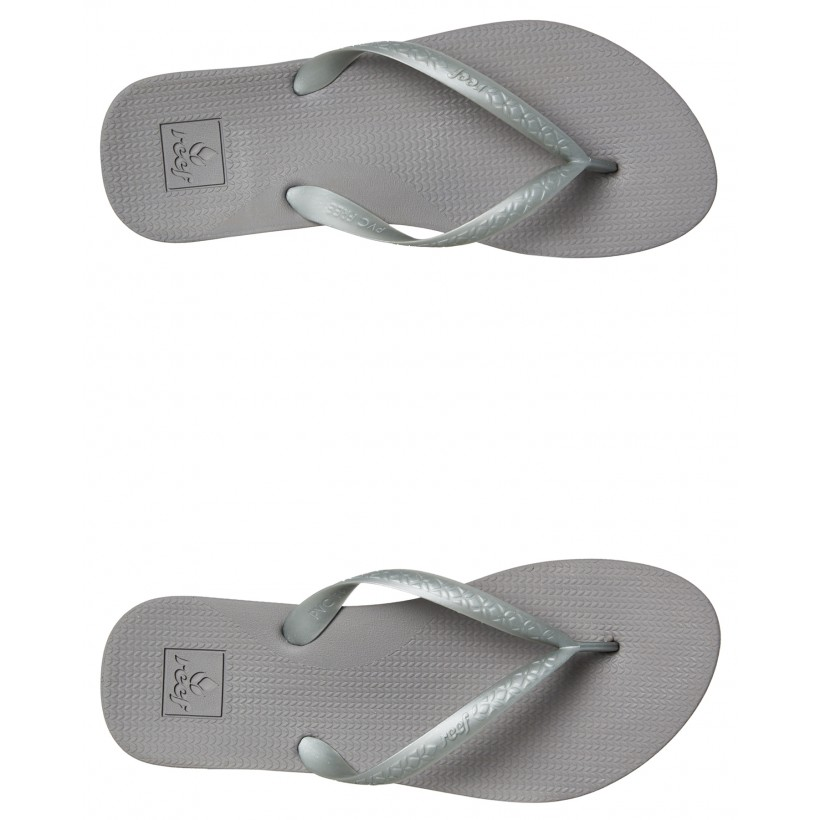 Womens Escape Lux Plus Thong Silver By REEF
