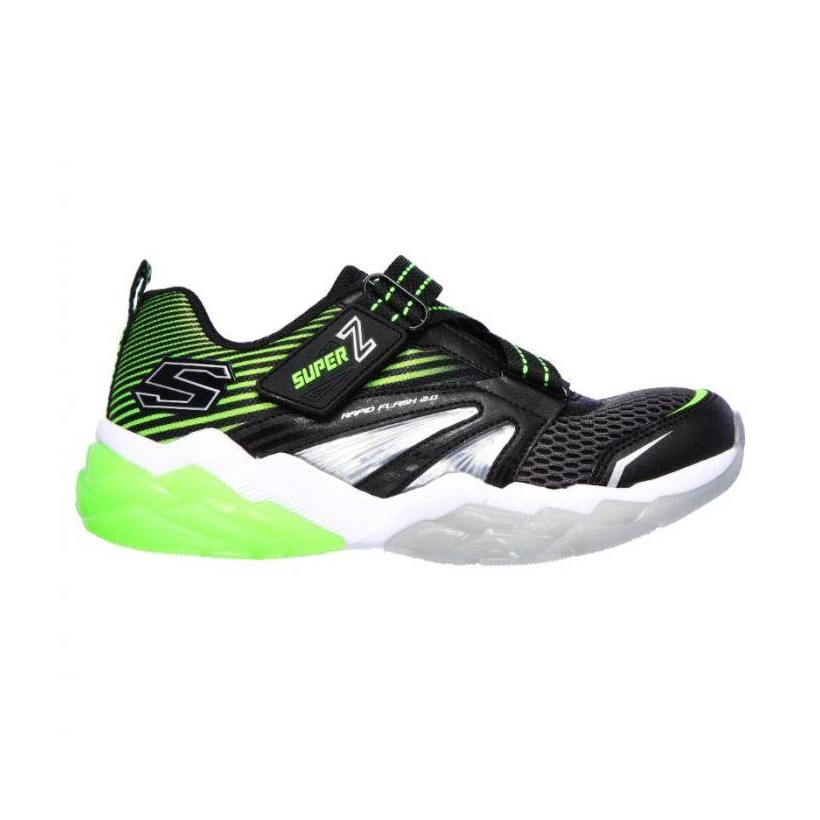 Black Lime - Boys' S Lights: Rapid Flash 2.0 - Soluxe
