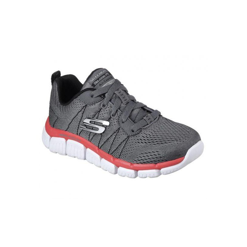 Charcoal/Black - Boys' Skech Flex 2.0 - Quick Pick