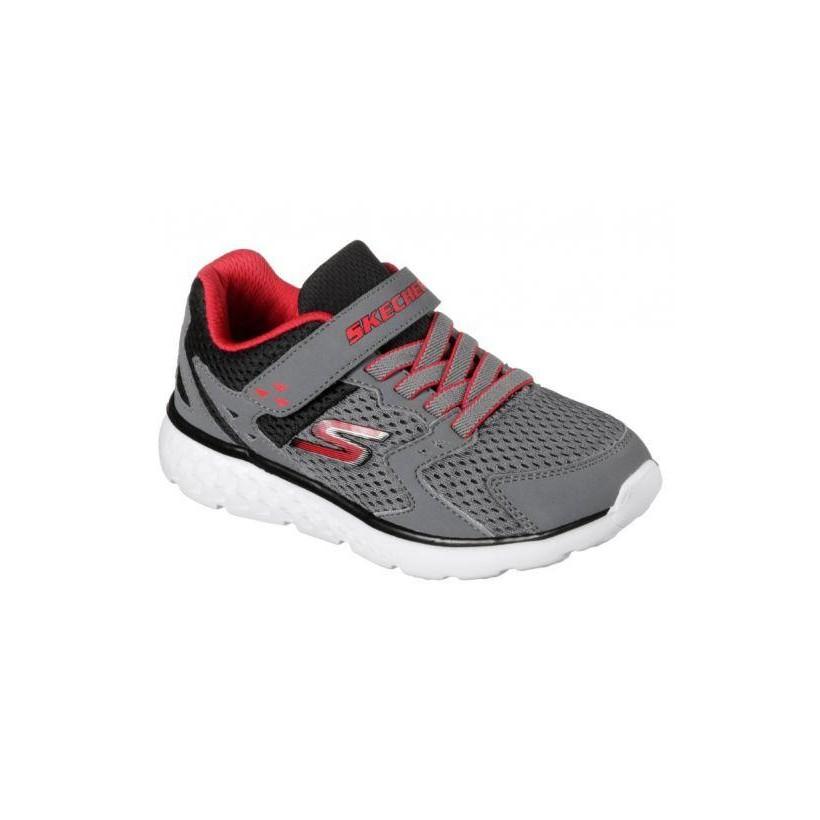 Charcoal/Red - Boys' Skechers GOrun 400 - Proxo