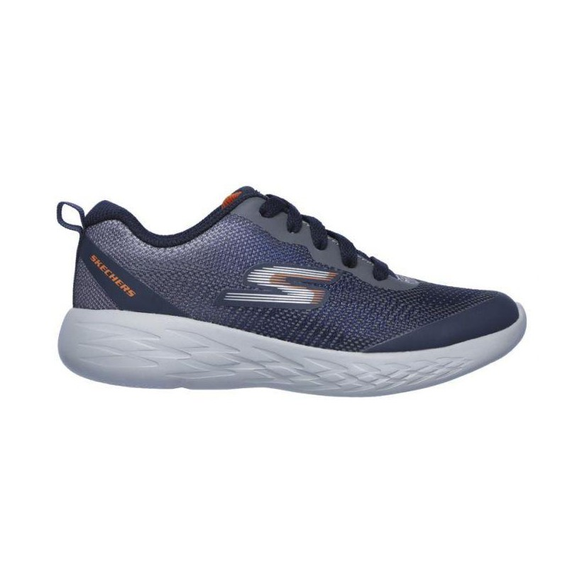 Navy/Charcoal - Boys' Skechers GOrun 600 - Haddox