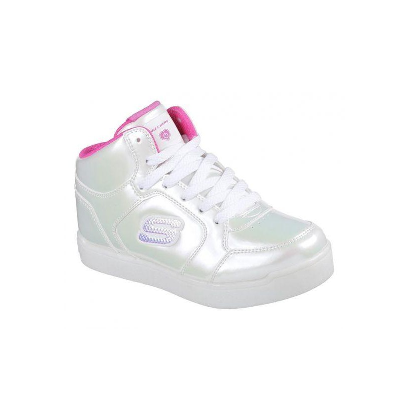 White/Hot Pink - Girls' Energy Lights: E-Pro - Pearl Princess