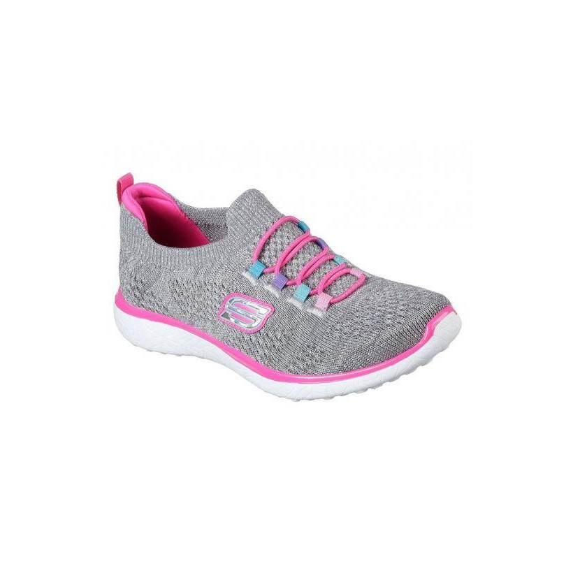 Grey/Hot Pink - Girls' Microburst - Sparkle Bounce