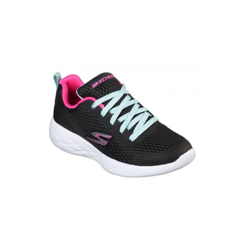Black/Multi - Girls' Skechers GOrun 600 - Fun Run