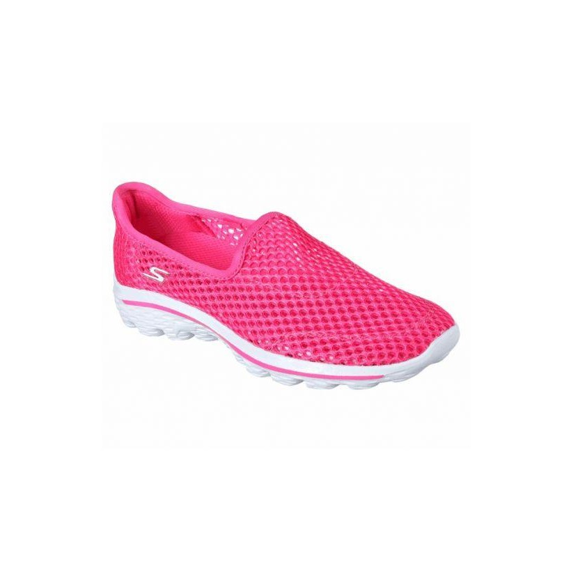 Hot Pink - Girls'  Skechers GOwalk 2 - Breezy Beauties