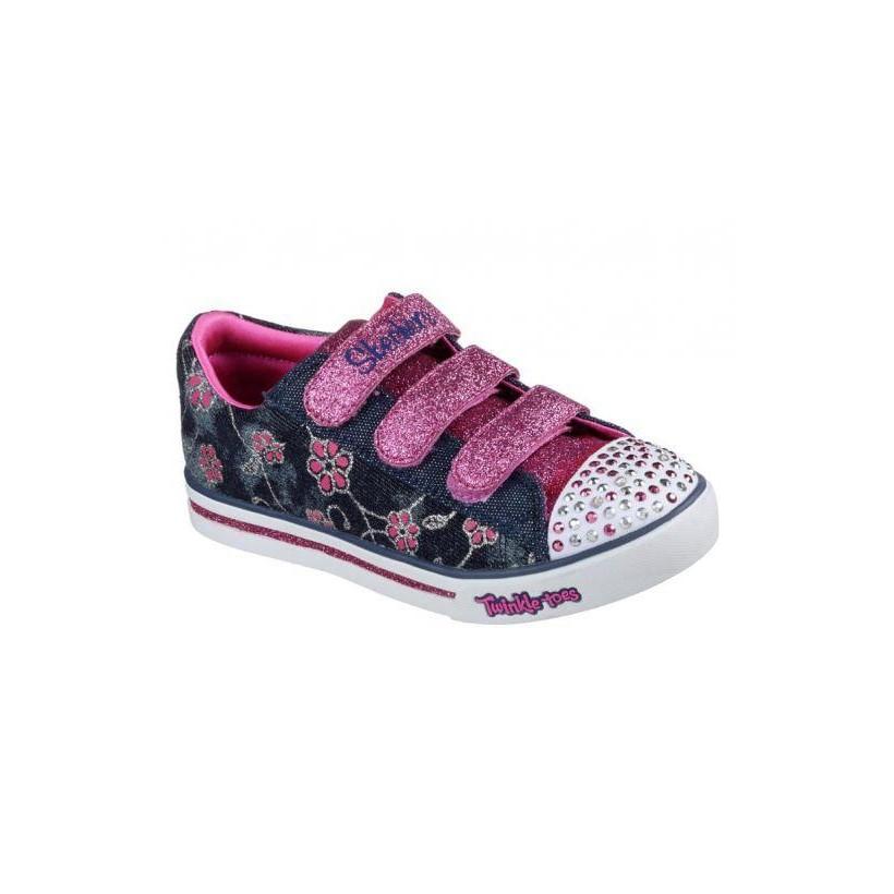 Denim Hot Pink - Girls' Twinkle Toes: Sparkle Glitz - Denim Daisy