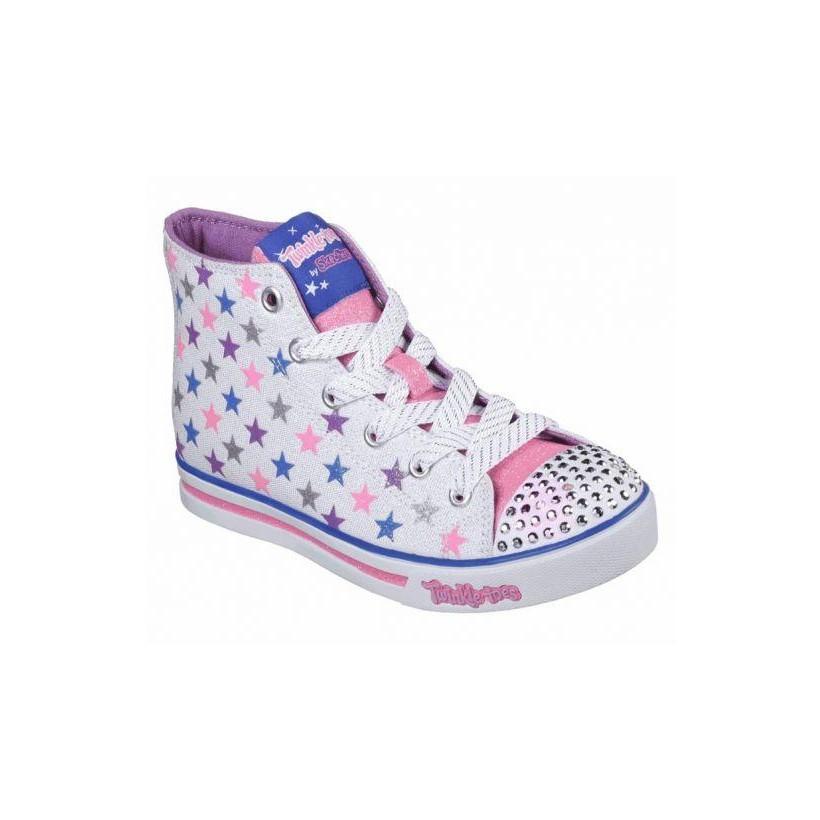 White Multi - Girls' Twinkle Toes: Sparkle Glitz - Shiny Starz