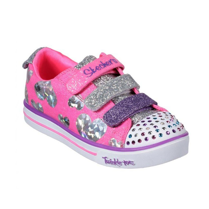 Hot Pink/Multi - Girls' Twinkle Toes: Sparkle Lite - Flutter Fab