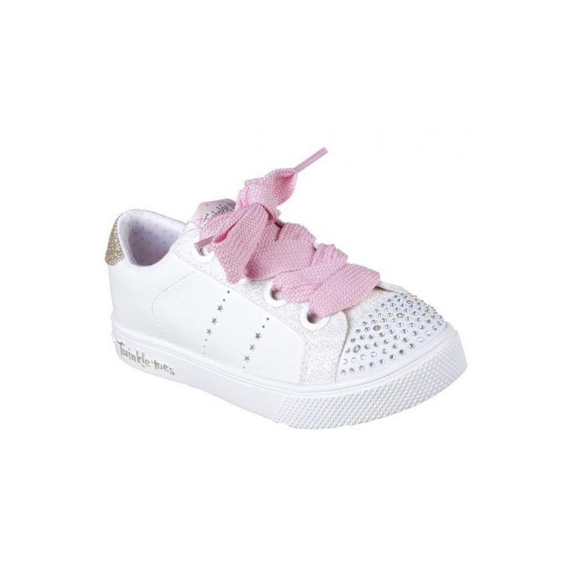 White/Pink - Girls' Twinkle Toes: Twinkle Breeze 2.0 - Sidestars