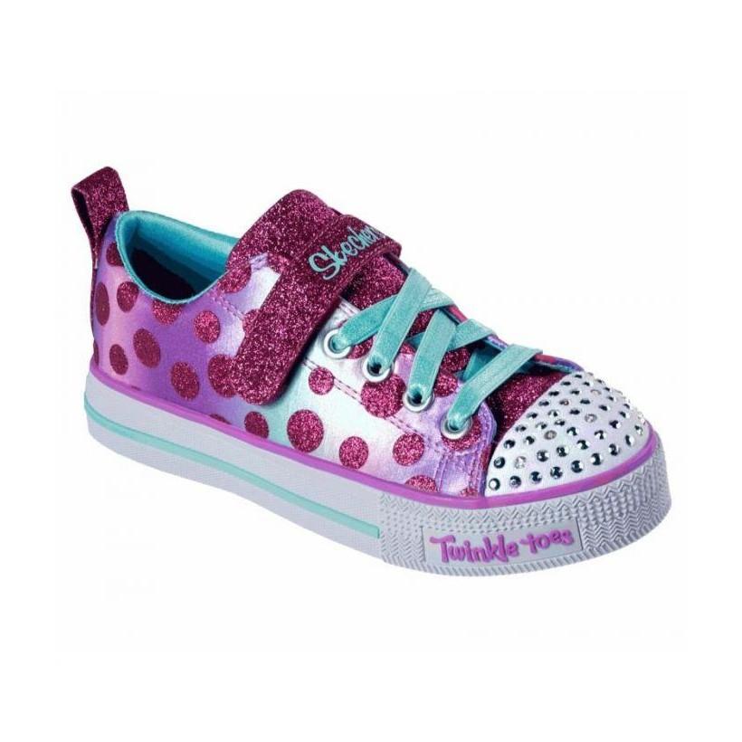 Hot Pink/Multi - Girls' Twinkle Toes: Twinkle Lite - Dainty Dots