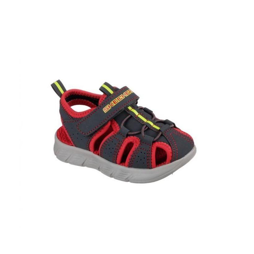 Charcoal/Red - Infant Boys' C-Flex Sandal