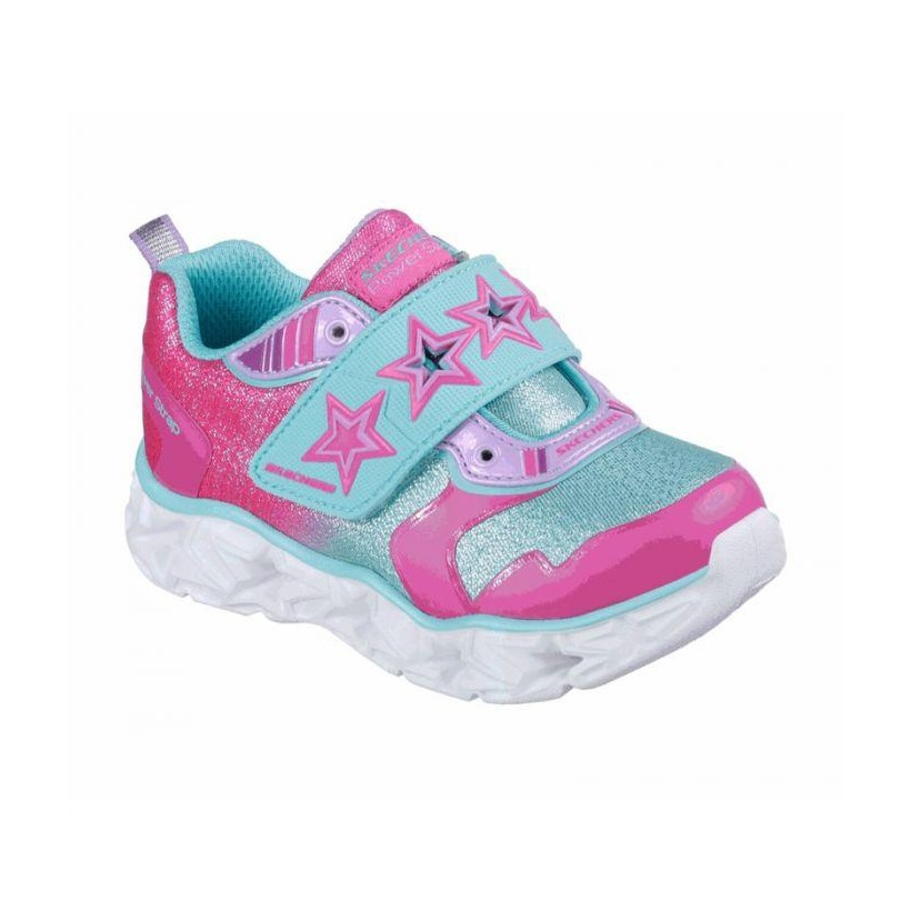 Neon Pink/Turquoise - Infant Girls' S Lights: Galaxy Lights - Cosmic Kicks