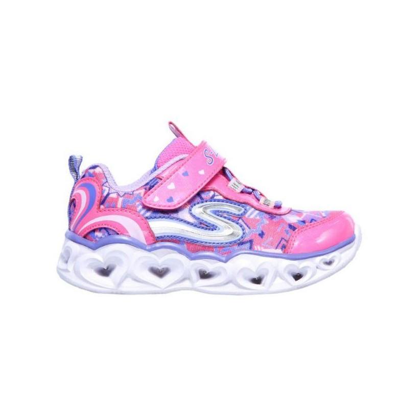 Neon Pink/Multi - Infant Girls' S Lights: Heart Lights