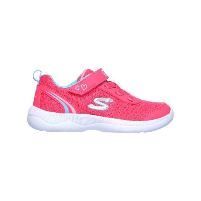 Hot Pink/Turquoise - Infant Girls' Skech-Stepz 2.0 - Sparkle Trainer