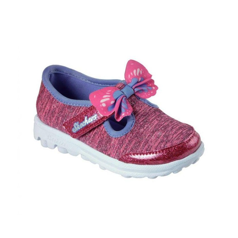 Hot Pink/Multi - Infant Girls' Skechers GOwalk - Bittyflies