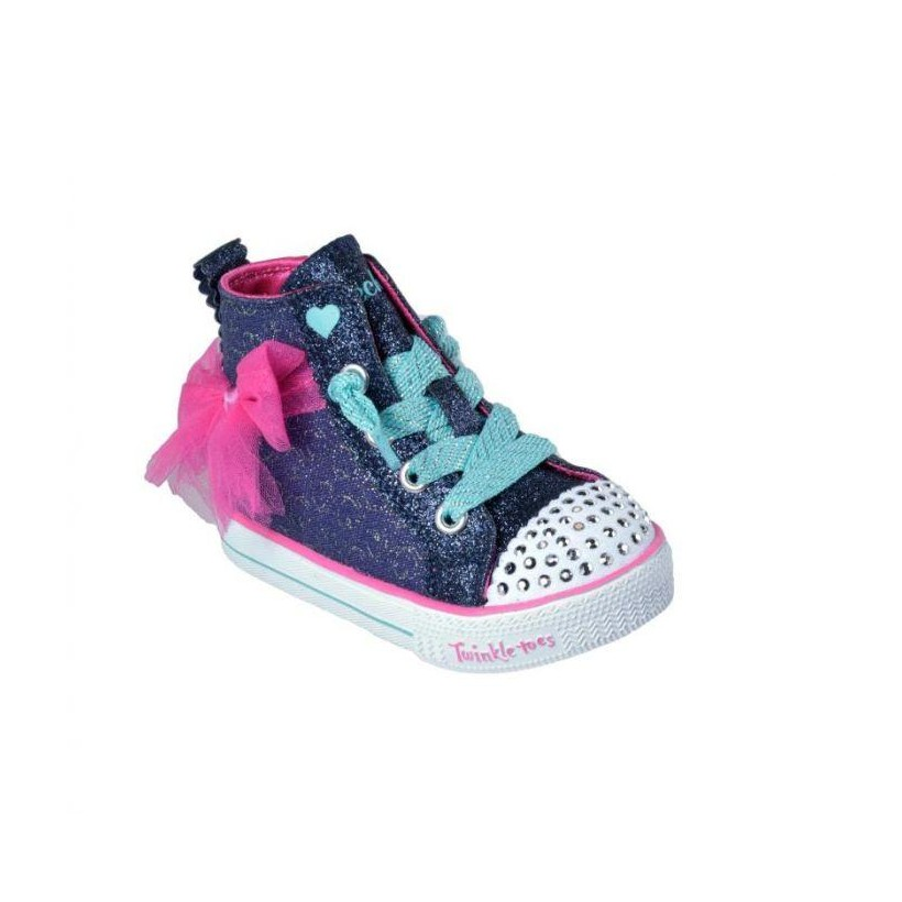 Navy Hot Pink - Infant Girls' Twinkle Toes: Shuffle Lite - Harmony Hearts