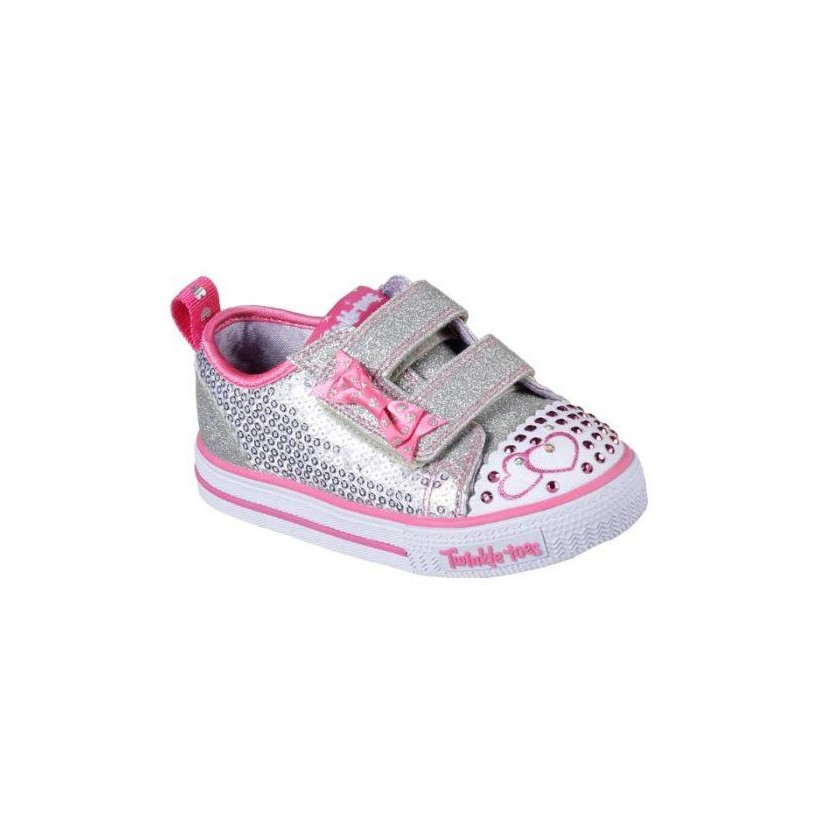 Silver Hot Pink - Infant Girls' Twinkle Toes: Shuffles - Itsy Bitsy