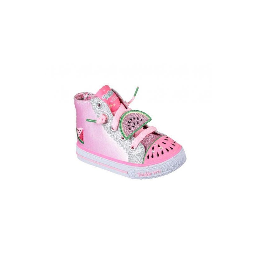 Pink/Silver - Infant Girls' Twinkle Toes: Shuffles - Patch Party