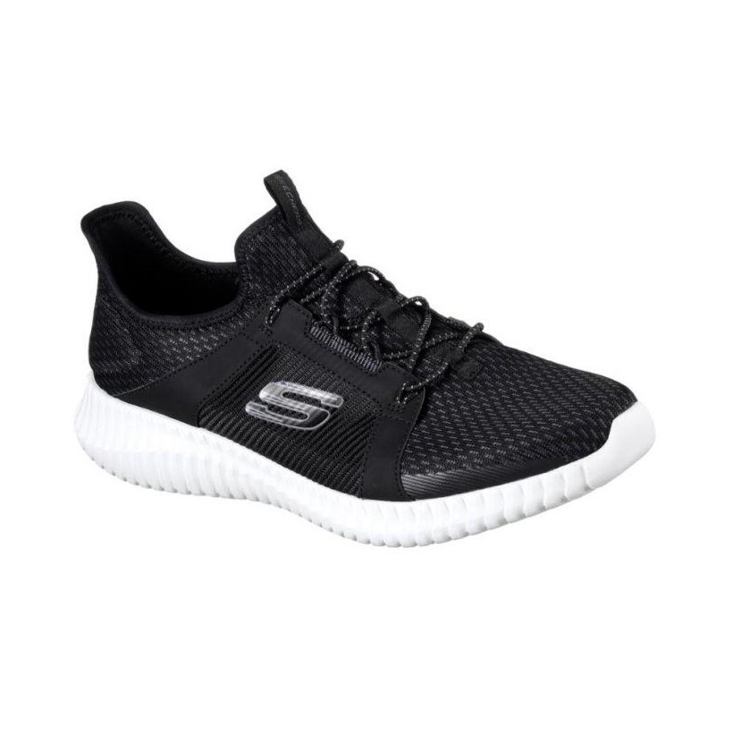 MEN'S ELITE FLEX - BLACK WHITE Men'S Shoes by Skechers
