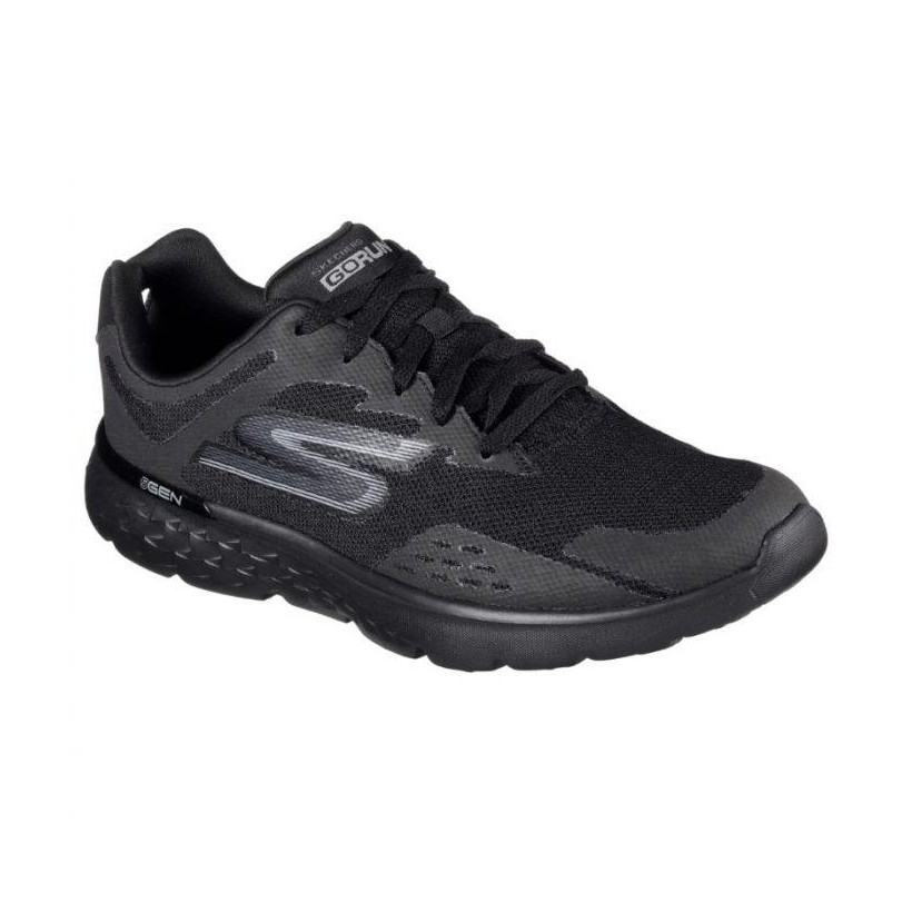 Black/Black - Men's Skechers GOrun 400 - Disperse