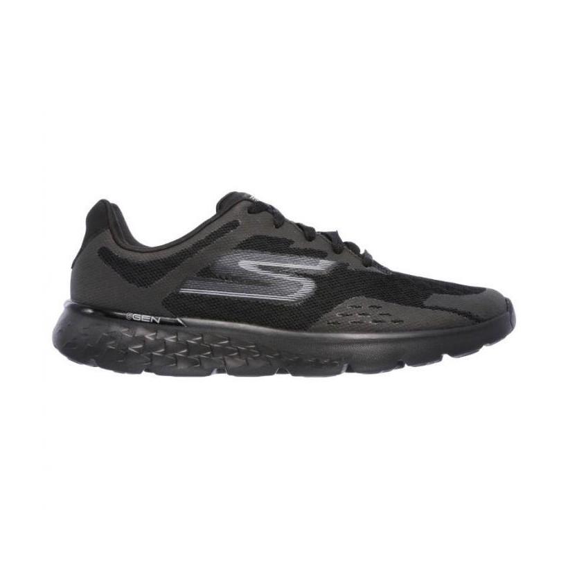 Black/Black - Men's Skechers GOrun 400 - Disperse
