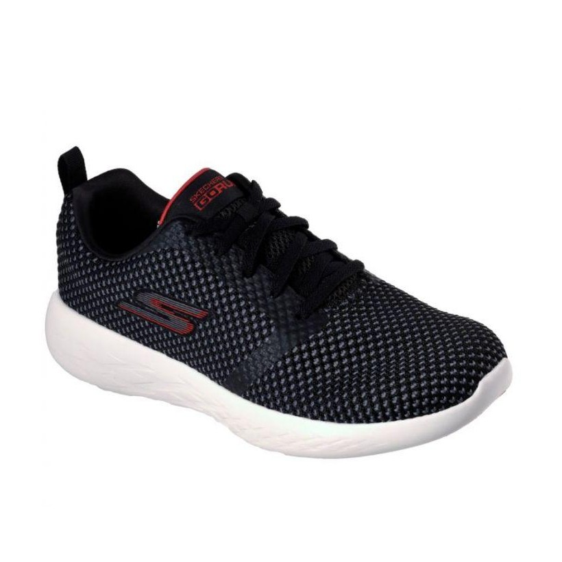 Black/Red - Men's Skechers GOrun 600 - Flux