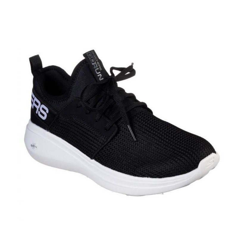 Black/White - Men's Skechers GOrun Fast - Valor