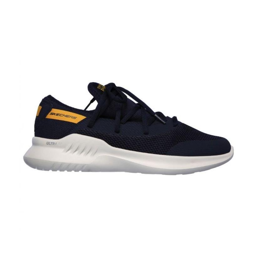 Navy/Yellow - Men's Skechers Gorun MOJO 2.0 - Endurable