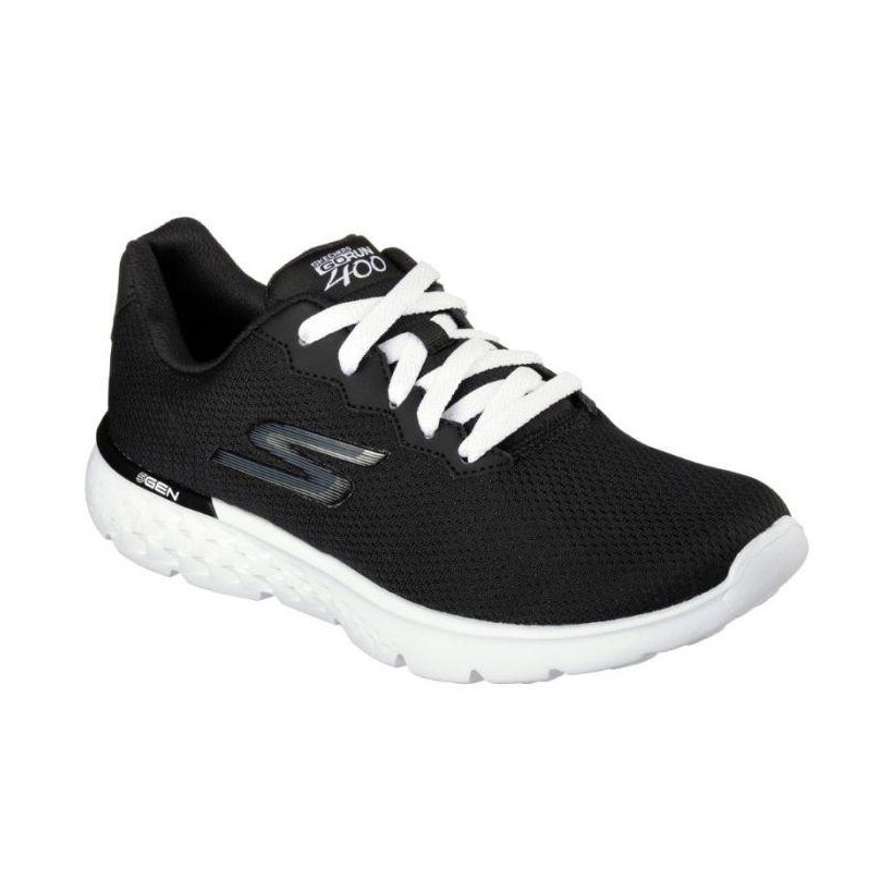 Black/White - Women's Skechers GOrun 400