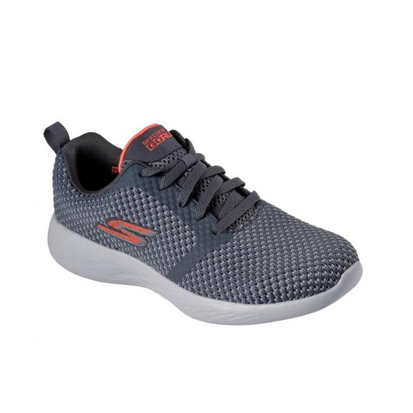 Charcoal/Coral - Women's Skechers GOrun 600 - Flux
