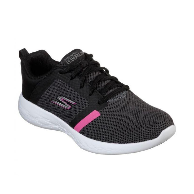 Black Hot Pink - Women's Skechers GOrun 600 - Revel