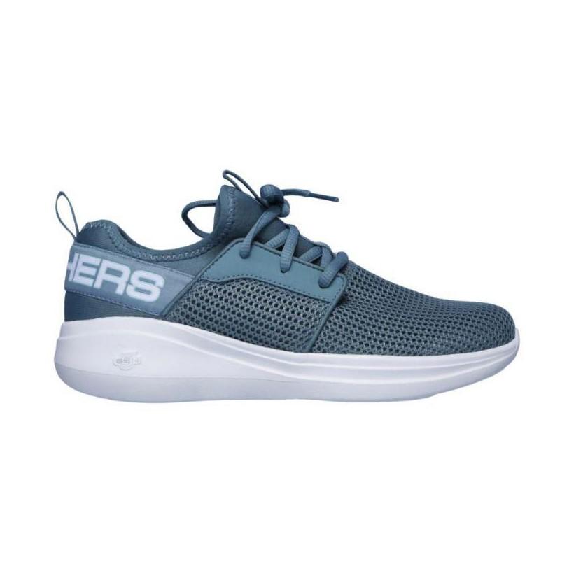Blue - Women's Skechers GOrun Fast - Valor