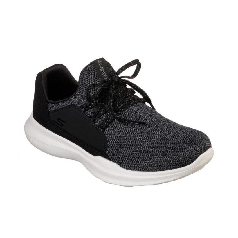 Black/White - Women's Skechers GOrun Mojo - Inspirate
