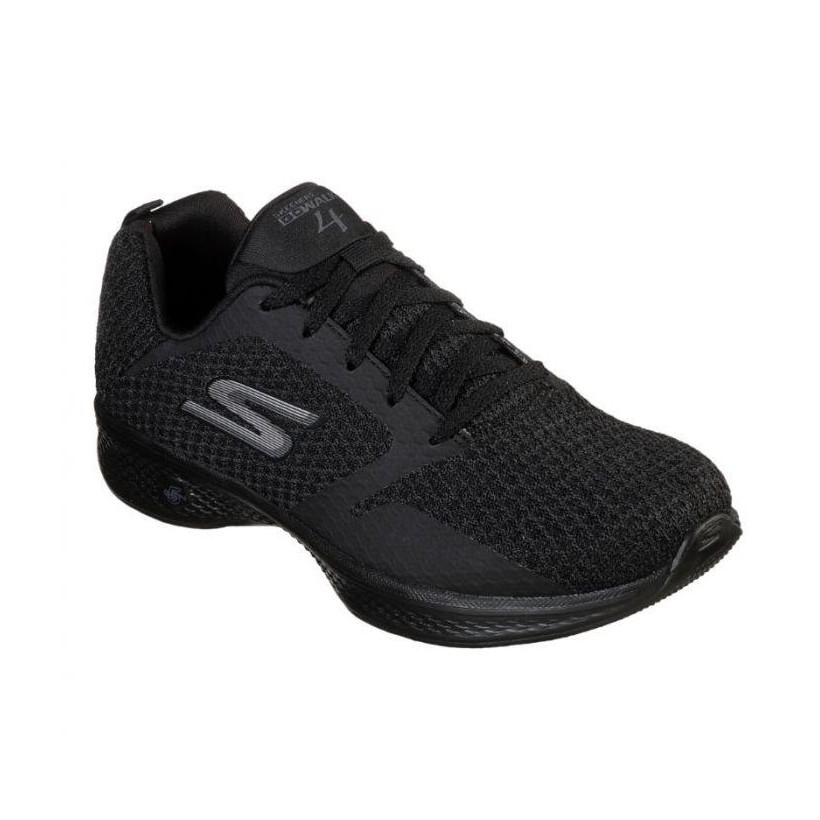 Black/Black - Women's Skechers GOwalk 4 - Desire