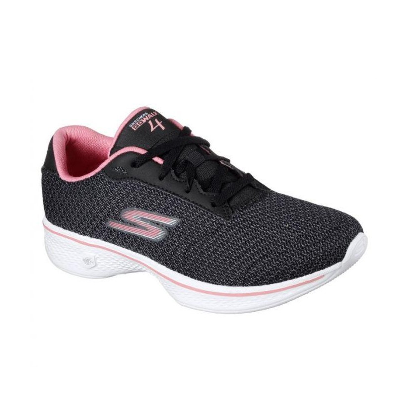 Black Pink - Women's Skechers GOwalk 4 - Glorify