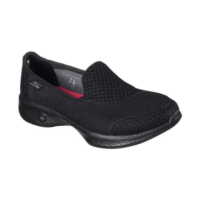 Black/Black - Women's Skechers GOwalk 4 - Propel Wide Fit