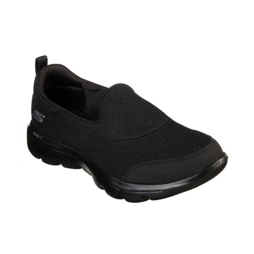 Black/Black - Women's Skechers GOwalk Evolution Ultra - Reach