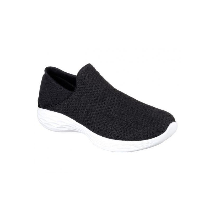 WOMENS YOU - BLACK WHITE Womens Shoes by Skechers