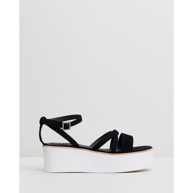Gemma Wedges Black by Sol Sana