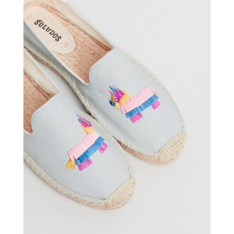 Pinata Smoking Slippers Chambray by Soludos