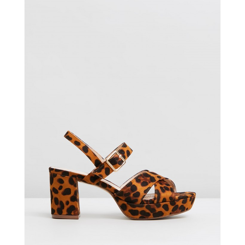 Cecil Heels Leopard Microsuede by Spurr