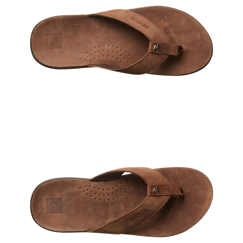 Ultimate Leather Thong Tan By RIP CURL