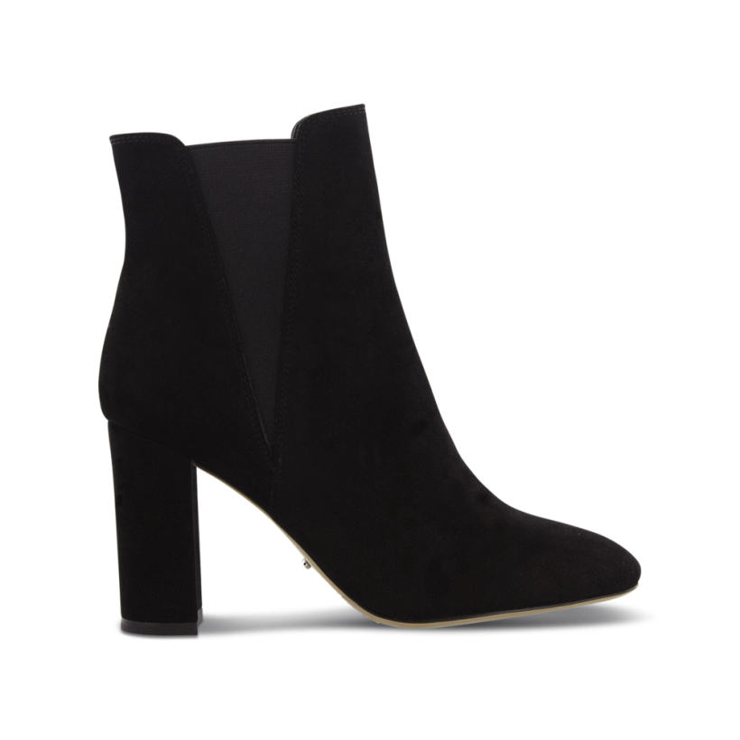 Aja Black Kid Suede Ankle Boots by Tony Bianco Shoes
